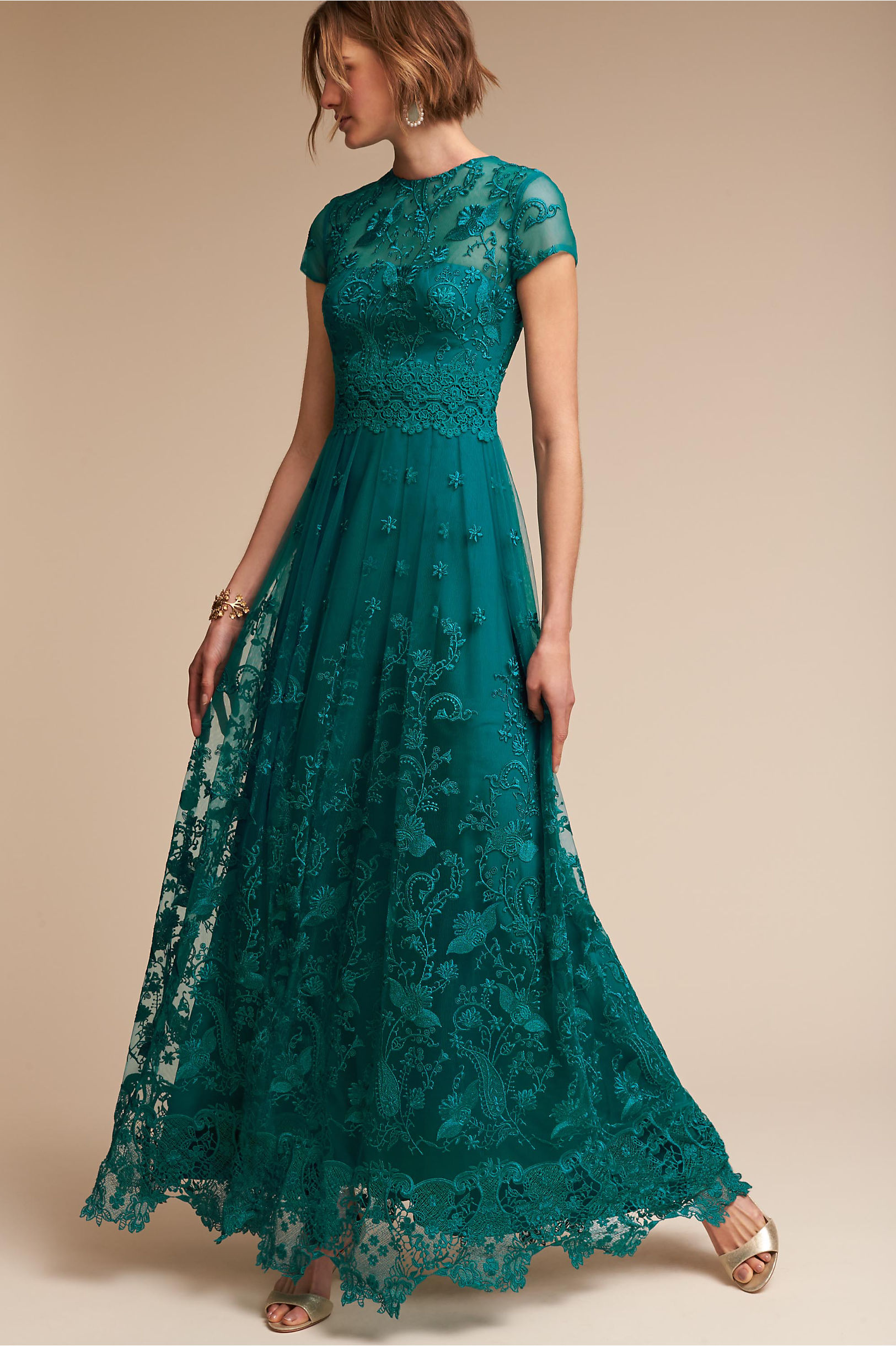 Shauna Dress Teal in Occasion Dresses | BHLDN