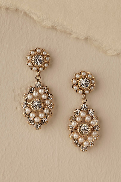 Ti Adoro Gold Courtship Earrings | BHLDN