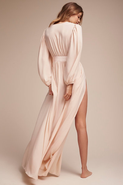 James Coviello Creme Mirah Robe  | BHLDN