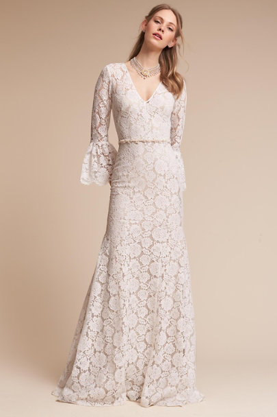 Theia Bridal Ivory/Champagne Harbor Gown | BHLDN
