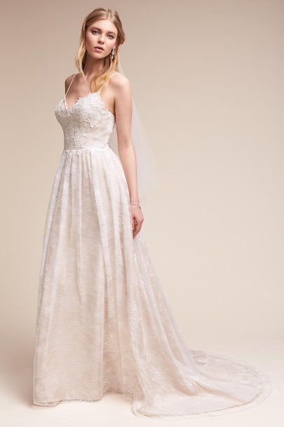 Whispers & Echoes Ivory/Champagne Susannah Gown | BHLDN