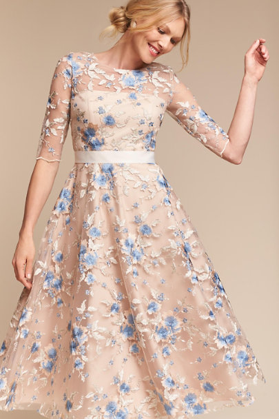 Hitherto Steel/Gold Linden Dress | BHLDN