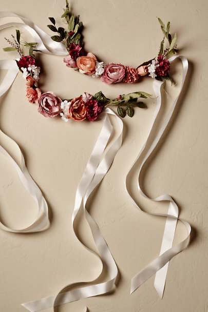 Rose Spring Blooms Chair Banners (2) | BHLDN