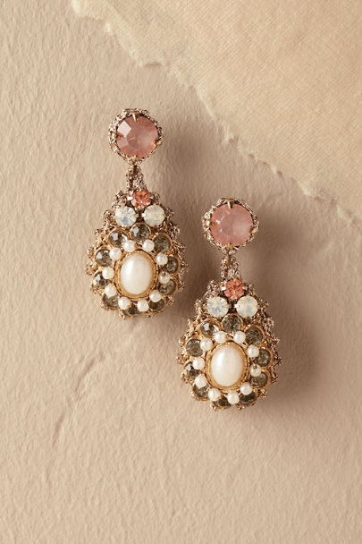 St. Erasmus Gold Shonti Earrings | BHLDN