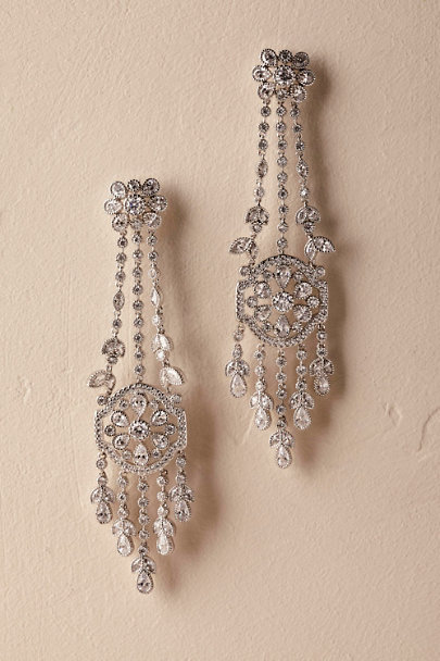 Silver Brinda Chandelier Earrings | BHLDN