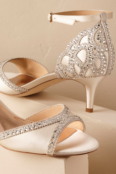 Badgley Mischka Ivory Chaumont Heels | BHLDN