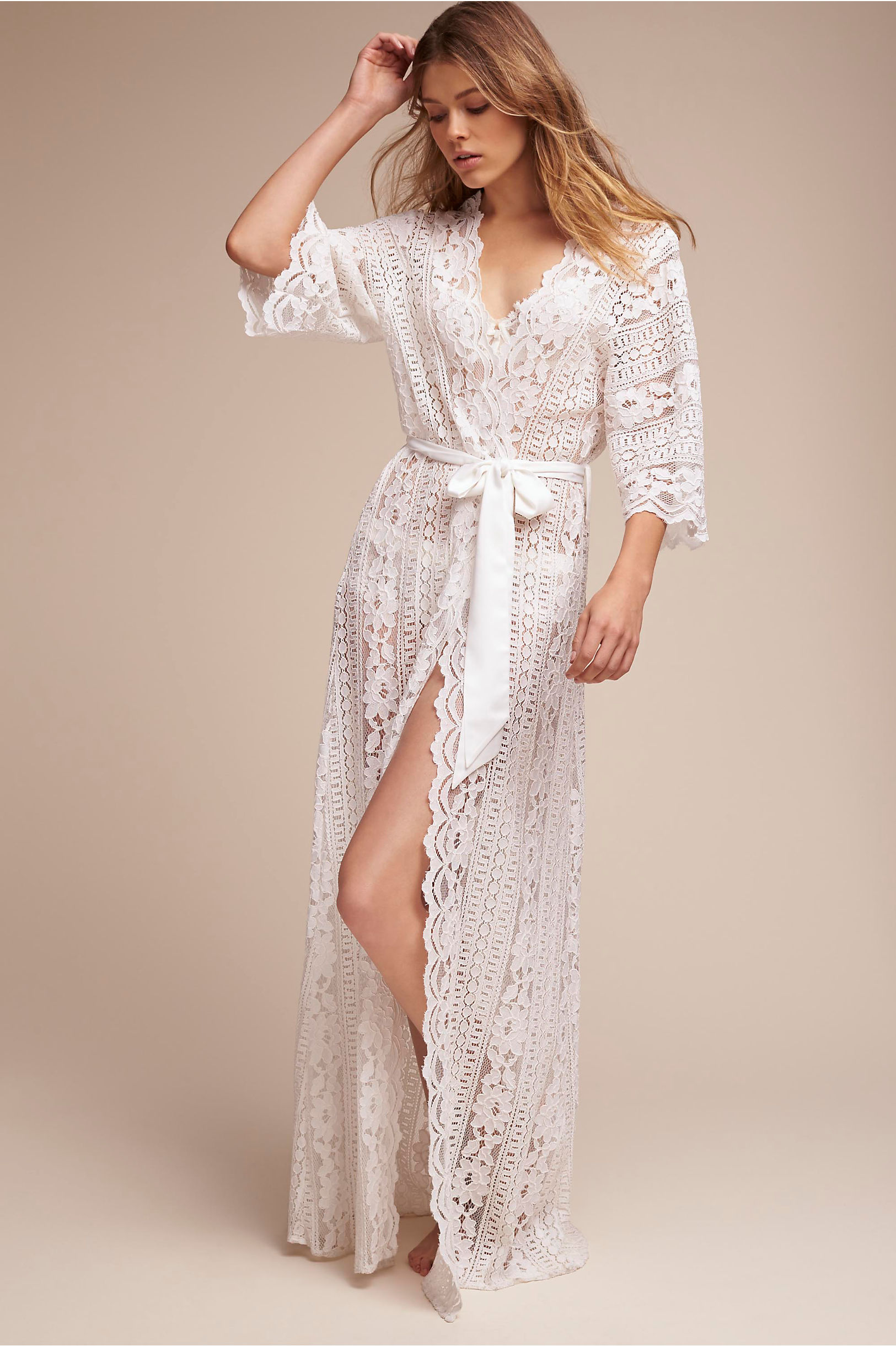 Ivory Willow Lace Robe Bhldn