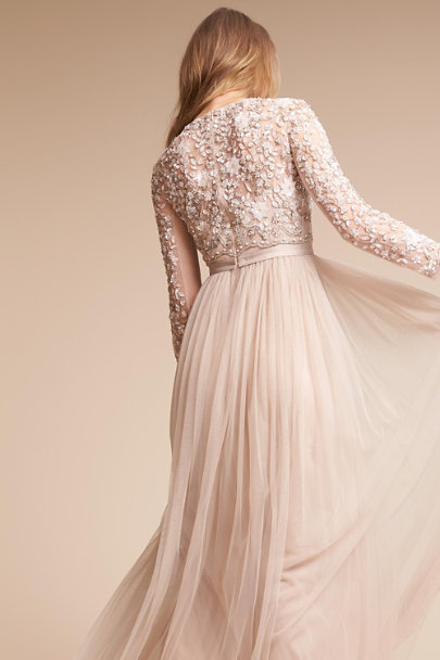 Needle & Thread Rose Beige Rhapsody Dress | BHLDN