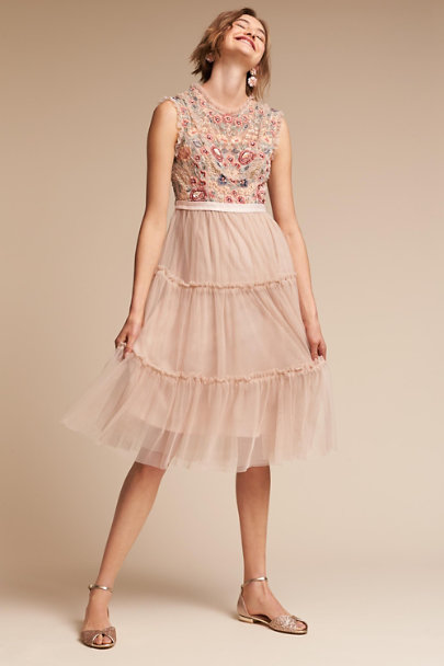 Needle & Thread Petal Pink Pier Dress | BHLDN