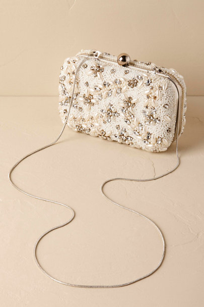 St. Xavier Ivory Doris Beaded Clutch | BHLDN