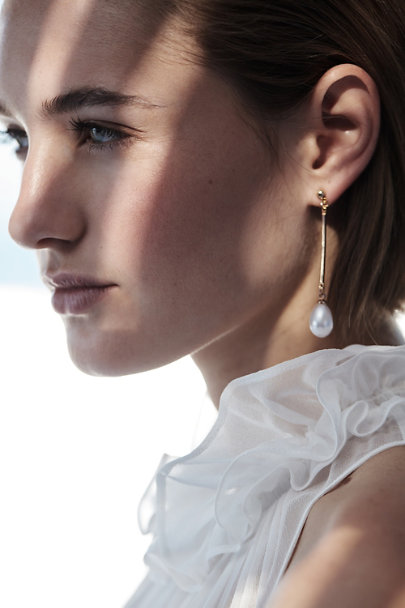 Kenneth Jay Lane Gold Thetis Earrings | BHLDN