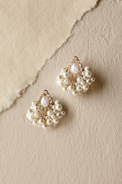 Gold Babette Stud Earrings | BHLDN