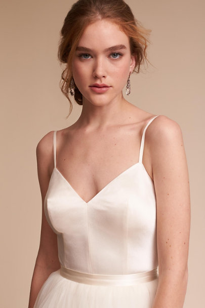 Catherine Deane Ivory Jewel Bodysuit | BHLDN