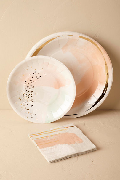 ... Pink Whispered Hues Paper Plates (8) | BHLDN & Whispered Hues Paper Plates (8) in Décor u0026 Gifts | BHLDN