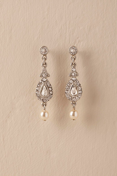 Ben-Amun Silver Empire Drop Earrings  | BHLDN