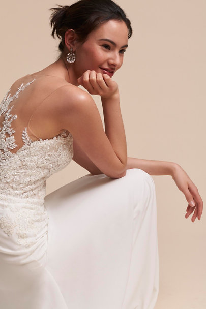 Pronovias Ivory Figura Gown | BHLDN