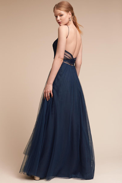 Watters Indigo Tinsley Dress | BHLDN