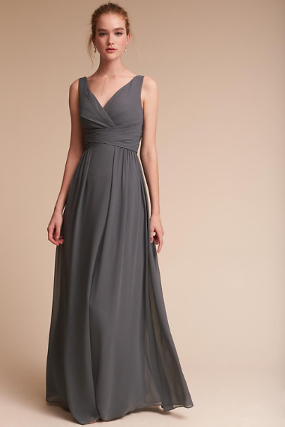 Watters Pewter Carnegie Dress | BHLDN