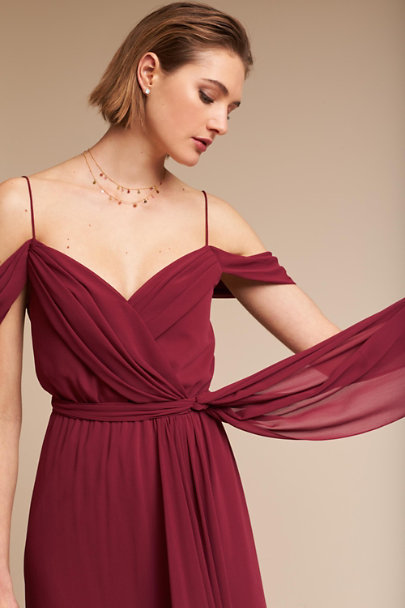 Watters Marsala Kane Dress | BHLDN
