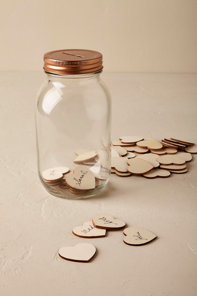 Neutral Wishing Jar Guest Book  | BHLDN