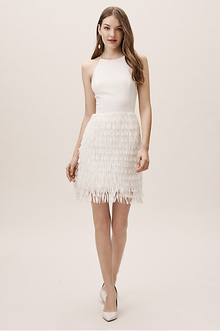 Promenade Fringe Halter Dress