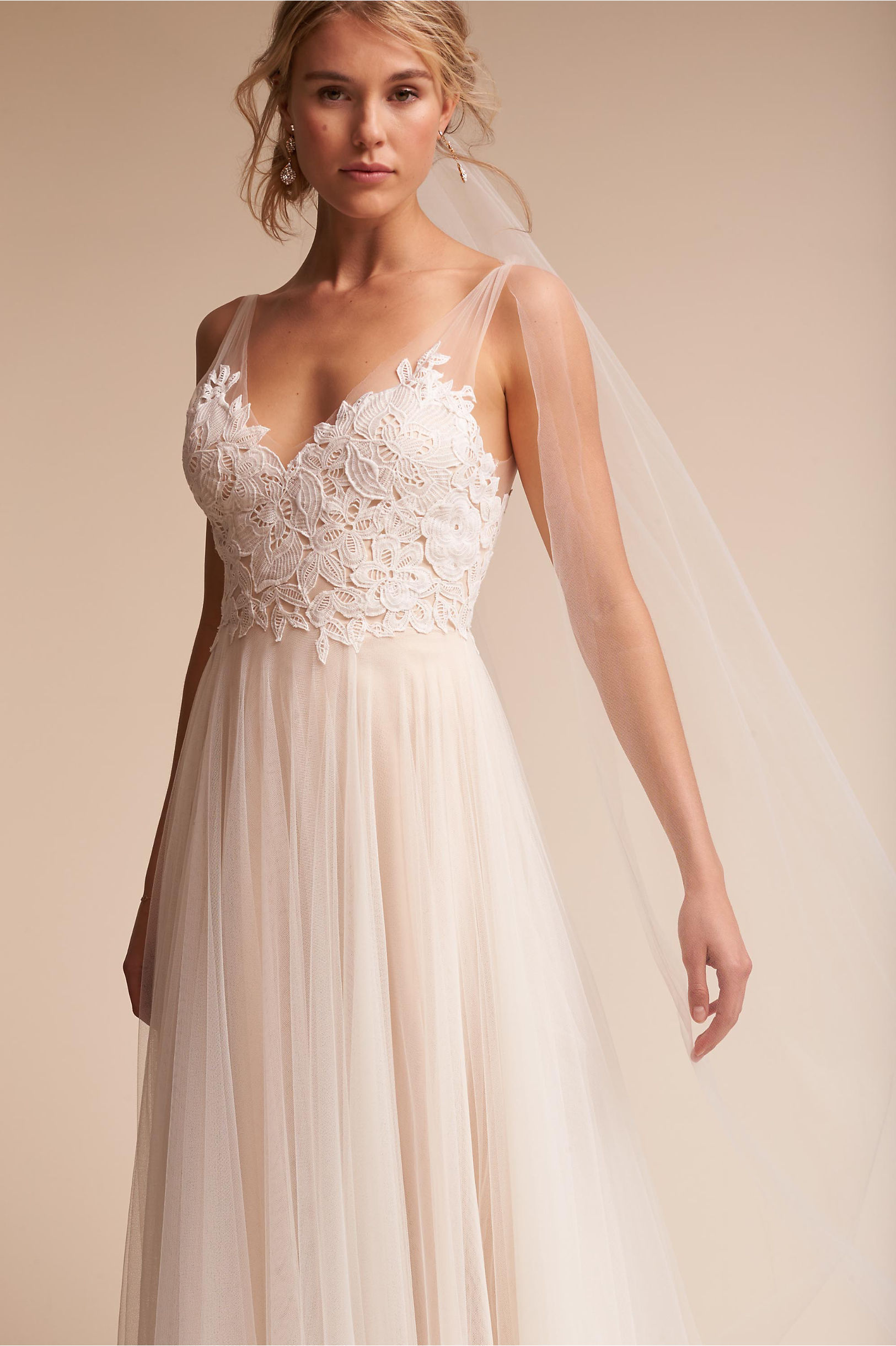 Heritage Gown Ivory/Champagne in Bride   BHLDN