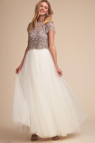 Catherine Deane Ivory Delphi Skirt | BHLDN