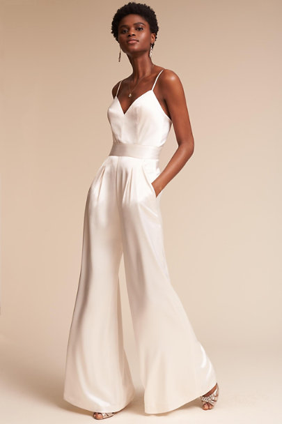 Catherine Deane Ivory Knightley Jumpsuit | BHLDN