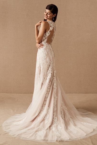BHLDN Ivory/Champagne Monarch Gown | BHLDN