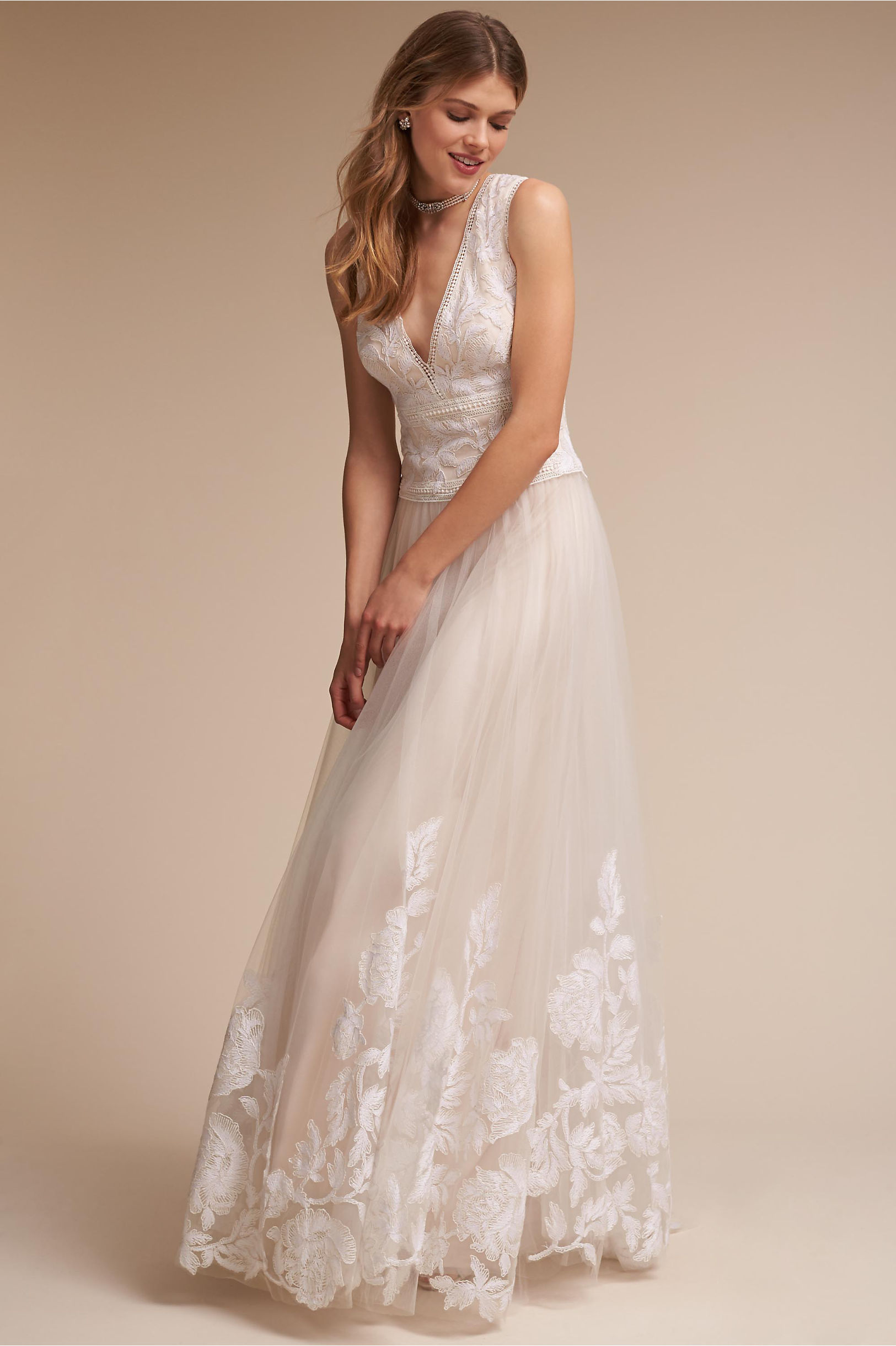English Rose Gown Ivory in Sale | BHLDN