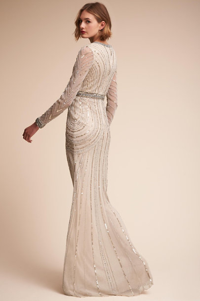 Terani Couture Silver Carraway Gown | BHLDN