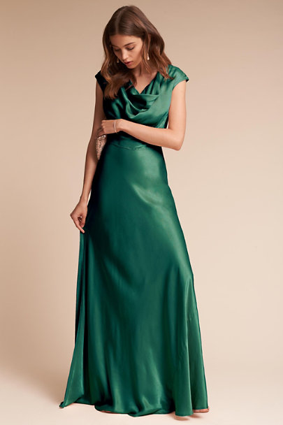 Ghost London Emerald Sea Gloss Dress | BHLDN