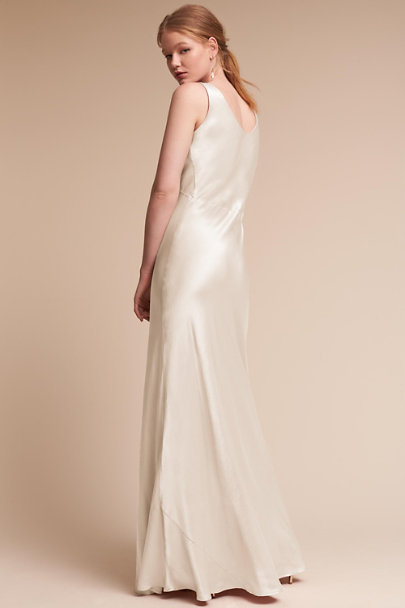 Ghost London Ivory Luster Dress | BHLDN