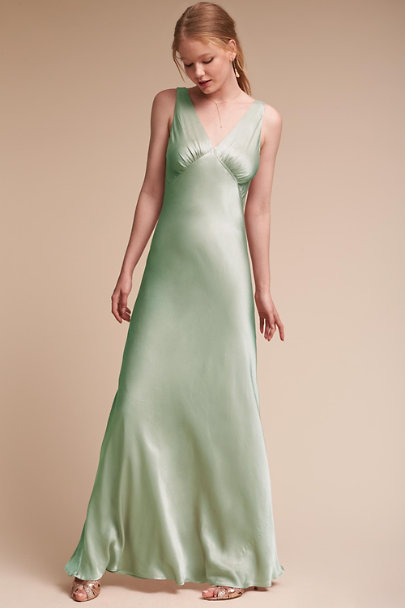 Ghost London Dusty Green Luster Dress | BHLDN