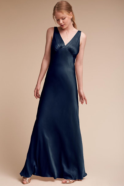 Ghost London Navy Luster Dress | BHLDN