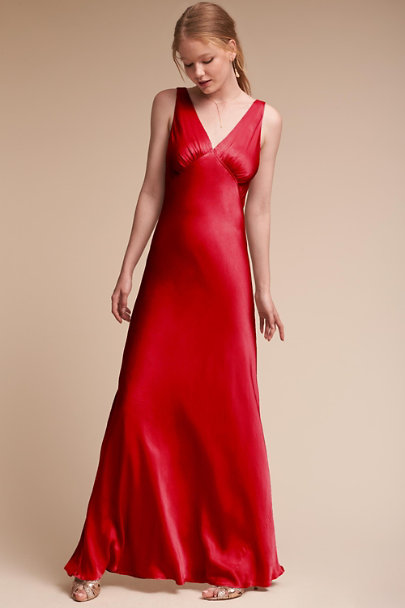 Ghost London Chilli Red Luster Dress | BHLDN