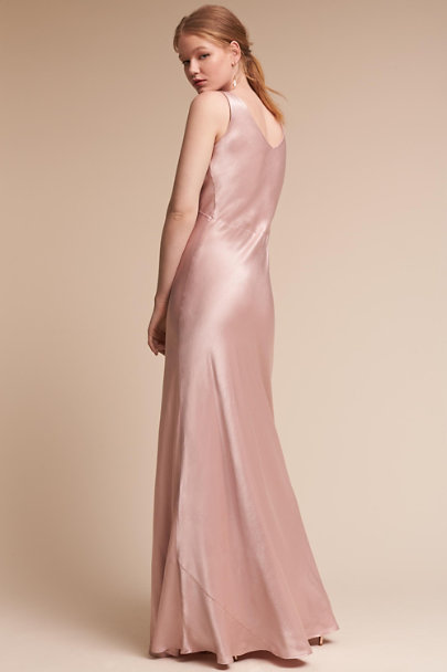 Ghost London Boudoir Pink Luster Dress | BHLDN