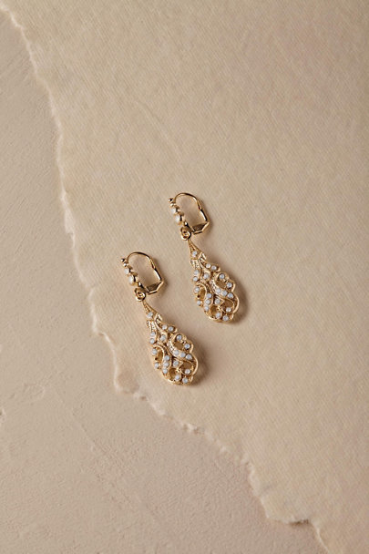 Ti Adoro Gold Conrad Drop Earrings  | BHLDN