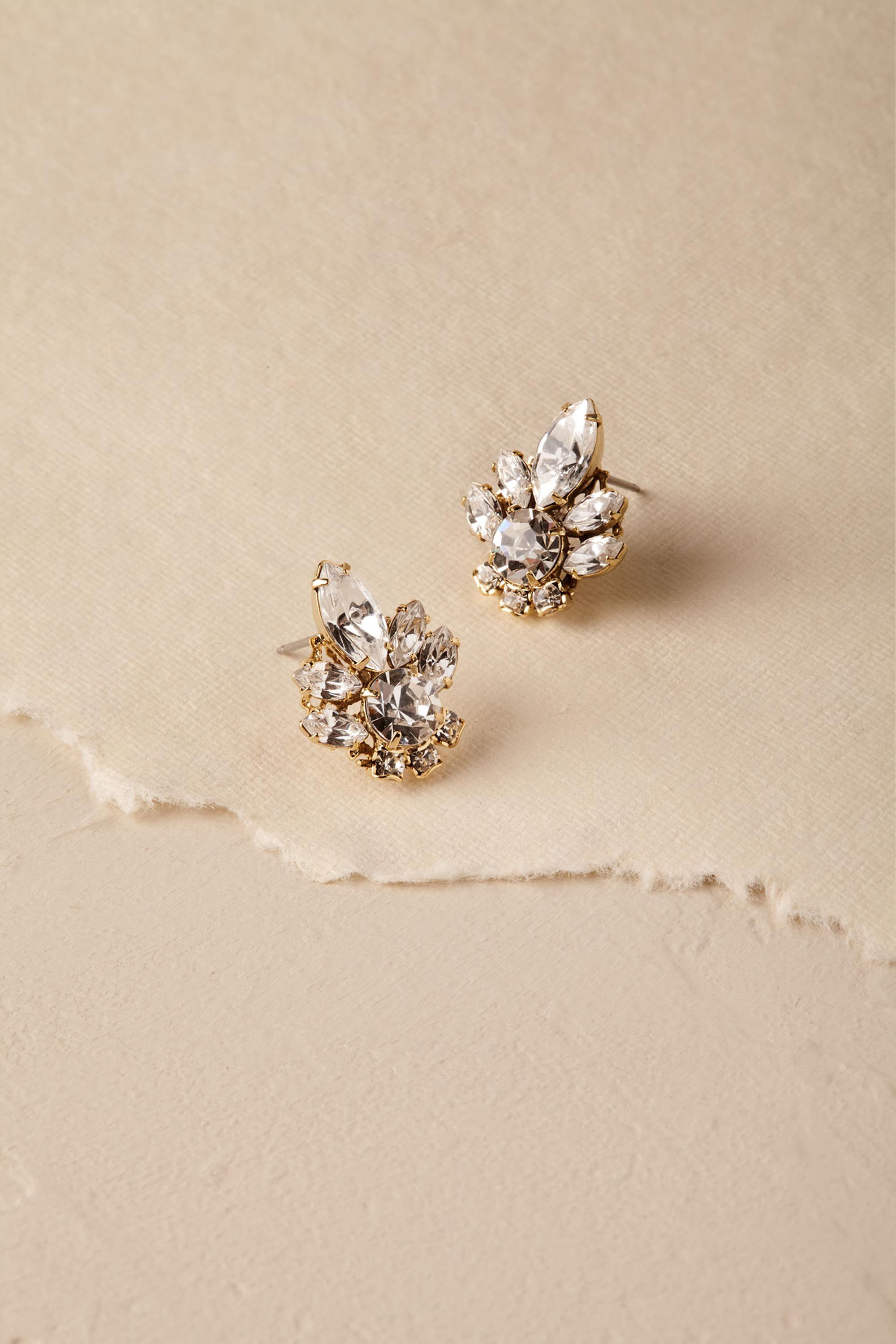 Charlene Crystal Stud Earrings