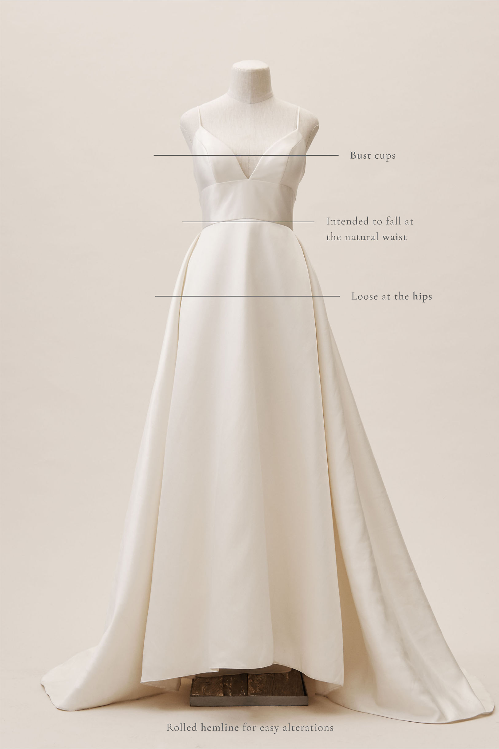a105bf08c479f Wtoo by Watters Ivory Opaline Ballgown