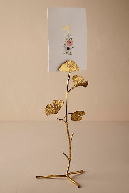 Gingko Leaf Card Holder