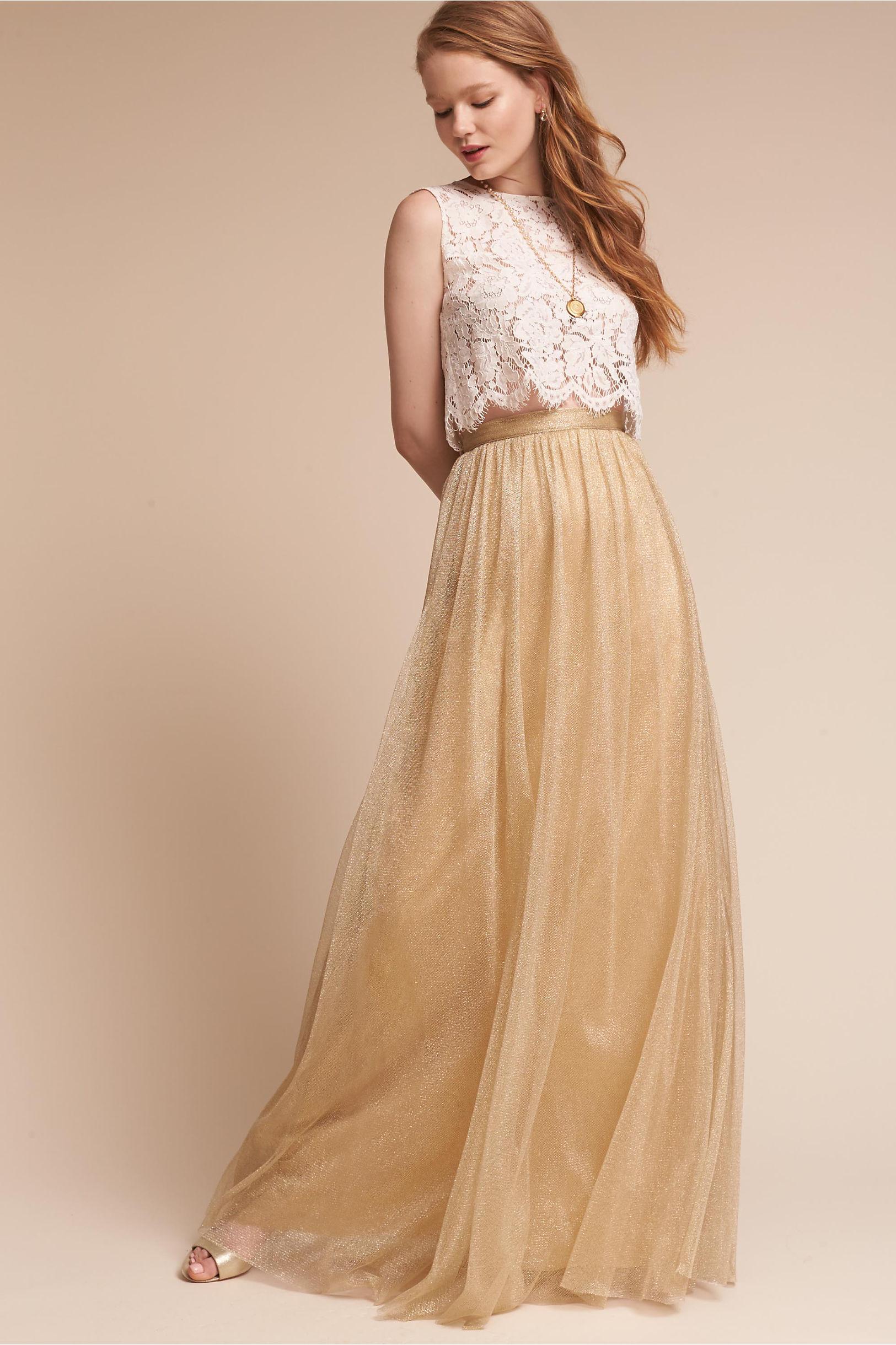 343062d4831 Jenny Yoo Metallic Gold Louise Tulle Skirt