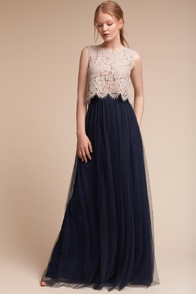 Jenny Yoo Navy Louise Tulle Skirt | BHLDN