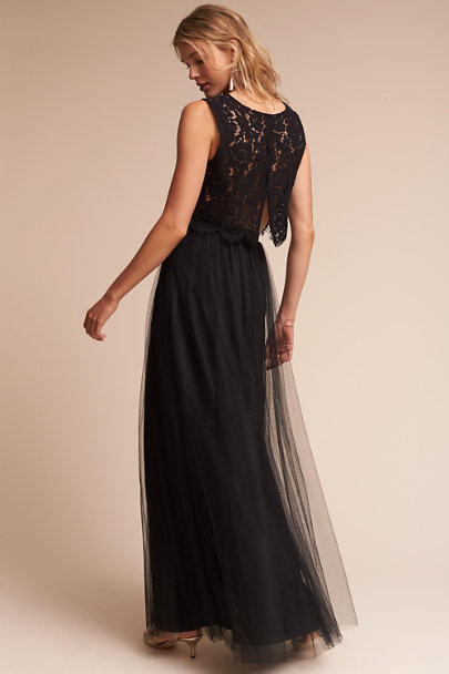 Jenny Yoo Black Louise Tulle Skirt | BHLDN