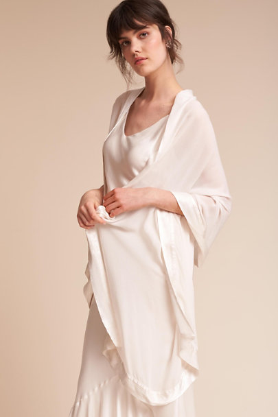 Ghost London Ivory Zara Shawl | BHLDN