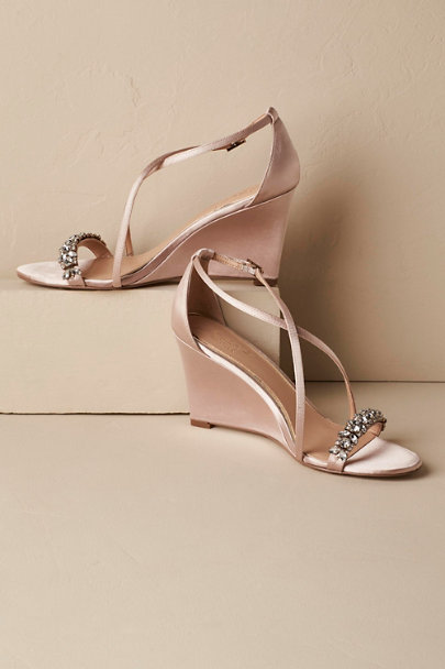 Badgley Mischka Champagne Little Wedges | BHLDN