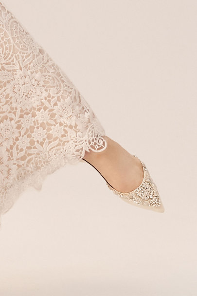Badgley Mischka Ivory Malena Flats | BHLDN