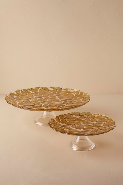... Gold Falling Leaves Cake Stand | BHLDN & Falling Leaves Cake Stand in Sale | BHLDN