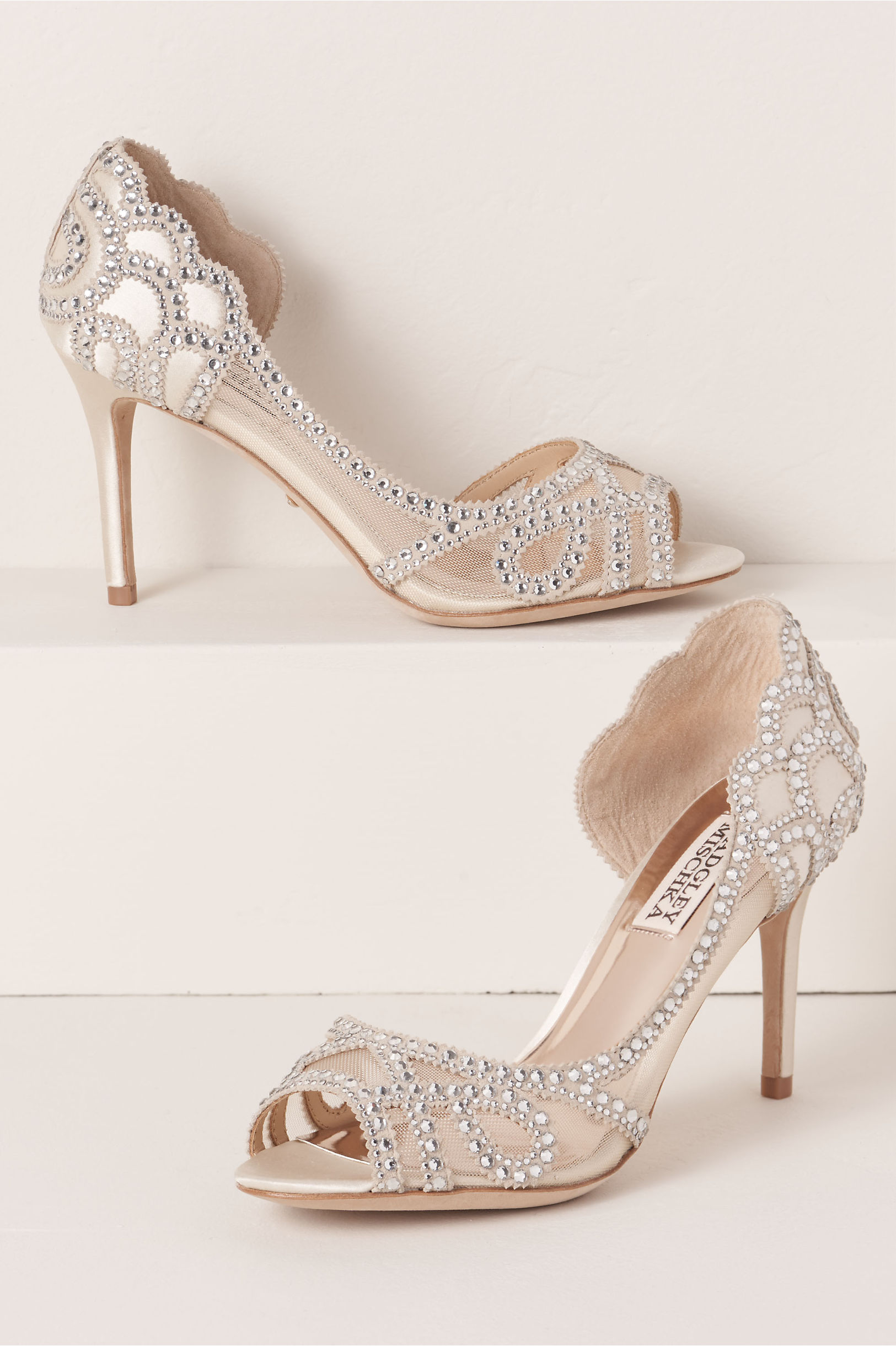 Peeptoe heels - ivory Buy Cheap Sneakernews With Paypal Free Shipping Pictures For Sale NHD8a6loYv