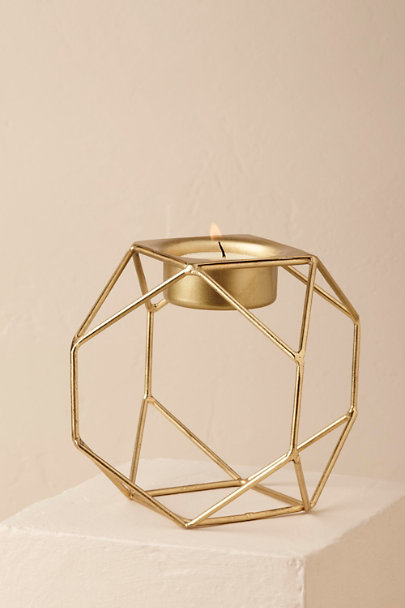 Gold Geo Tea Light Holder | BHLDN